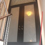12-Serefina Design Doors with Stained Glass and Transom, Inside View Installtion by Windows and Doors Toronto