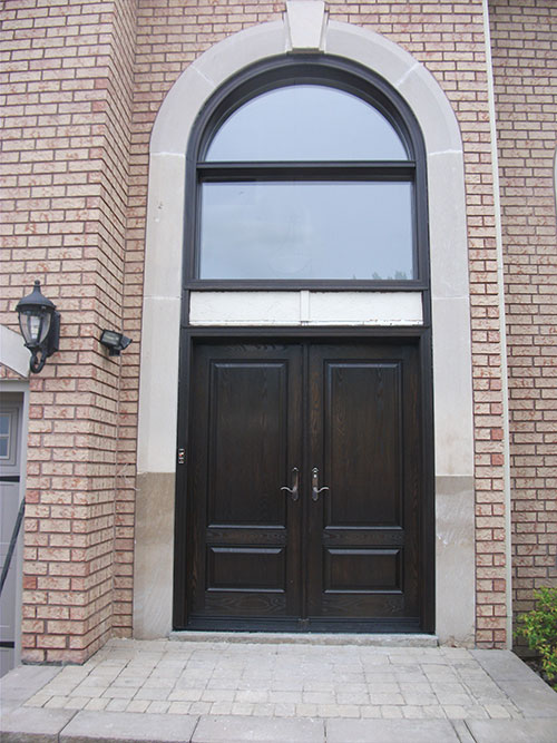 Front Entry Doors Fiberglass Woodgrain Doors With Transom
