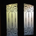 Arch-Fiberglass-Doors-with-Iron-Art-Design-installed-by Windows And Doors Toronto
