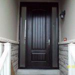 Executive Door, 8-Foot-FiberglasSigle-Solid-Rustic-Door-with-2-frosted-Side-Lites-Installed-in-Newmarket-Ontario by Windows and Doors Toronto