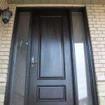 Executive Door, 8-Foot-Single-Solid-Fiberglass-Front-Door-With-2-Frosted-Side-Lites-Installed-in-Bloomington by Windows and Doors Toronto