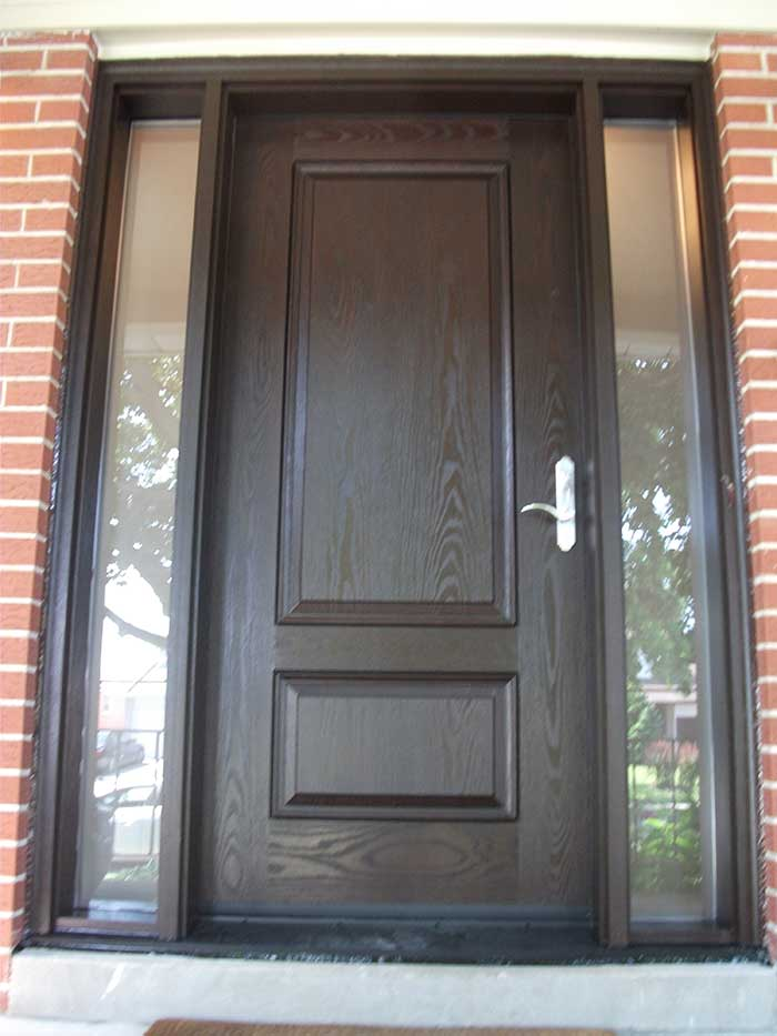 Front entry doors fiberglass doors modern doors executive for Single exterior door