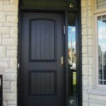Executive Door, Fiberglass Door with Rustic and SIide Lite & Transom Installed in Richmondhill Ontario by Windows and Doors Toronto