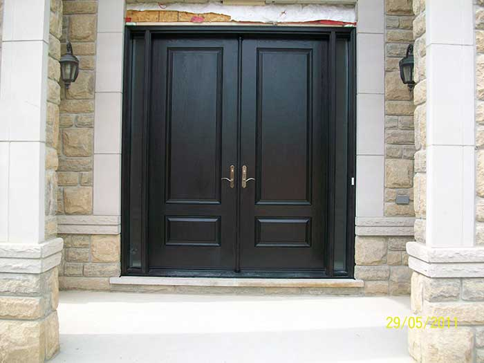 Executive door front entry doors fiberglass doors for Houses with double front doors