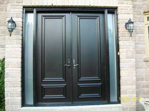 Executive door front entry doors fiberglass doors modern for 8 foot exterior french doors