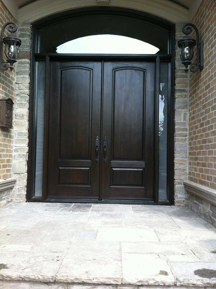 Executive Doors With 2 Side Lites And Matching Art Transom