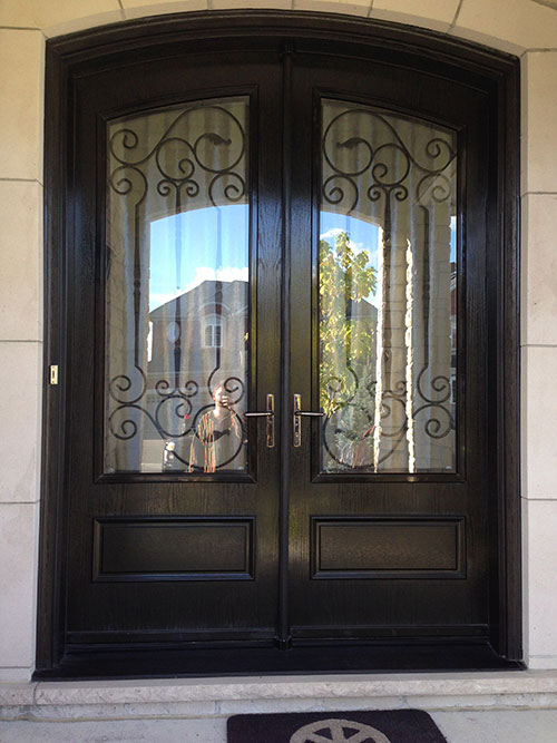 Arched fiberglass doors front entry doors fiberglass arch for Front door arch design