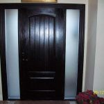 Wood Grain Door, Rustic Solid Door, with 2 Frosted Side Lites Installed by Windows and Doors Toronto in Thornhill