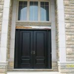 Wood grain Doors, Solid Stain Spanish Oak Installled by Windows and Doors Toronto in Maple