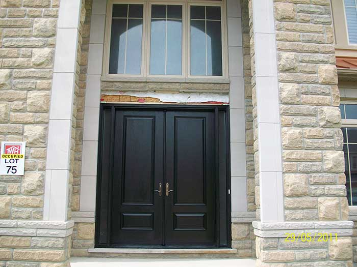 Front entry doors fiberglass doors modern doors woodgrain exterior front entry doors fiberglass doors modern doors woodgrain exterior doors solid stain spanish oak installed in maple eventshaper