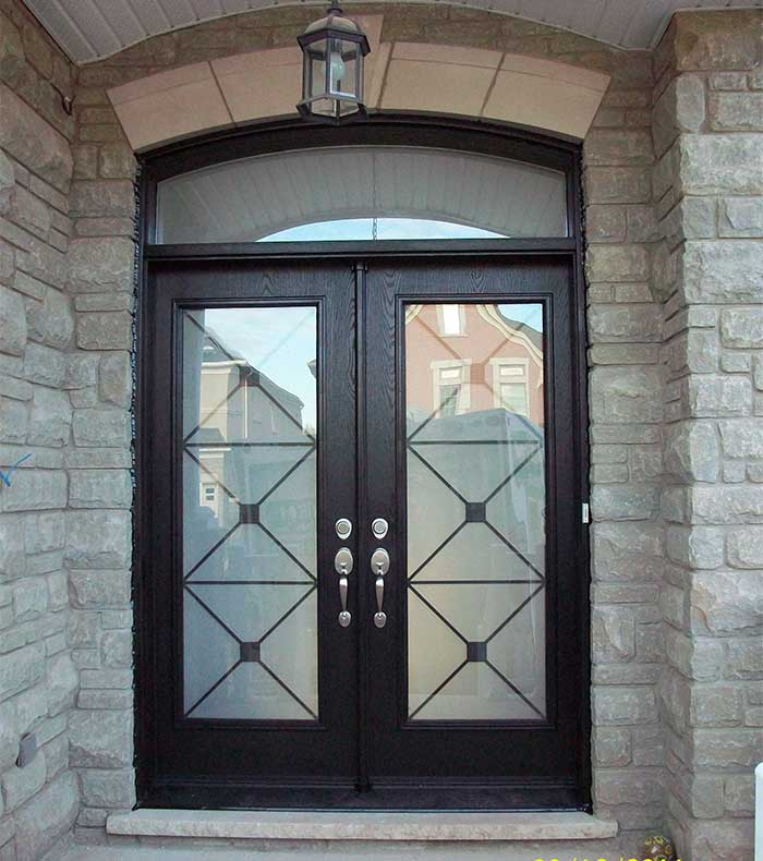 Modern Exterior Of Home With Pathway Transom Window: Brampton Doors & Garage Doors In Br&ton F74 About Remodel