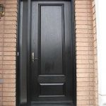 8-Foot Door, Single-Solid-Fiberglass-Front-Door-with-Slim-Side-Light-Installed- by Windows and Doors Toronto in-Oshawa