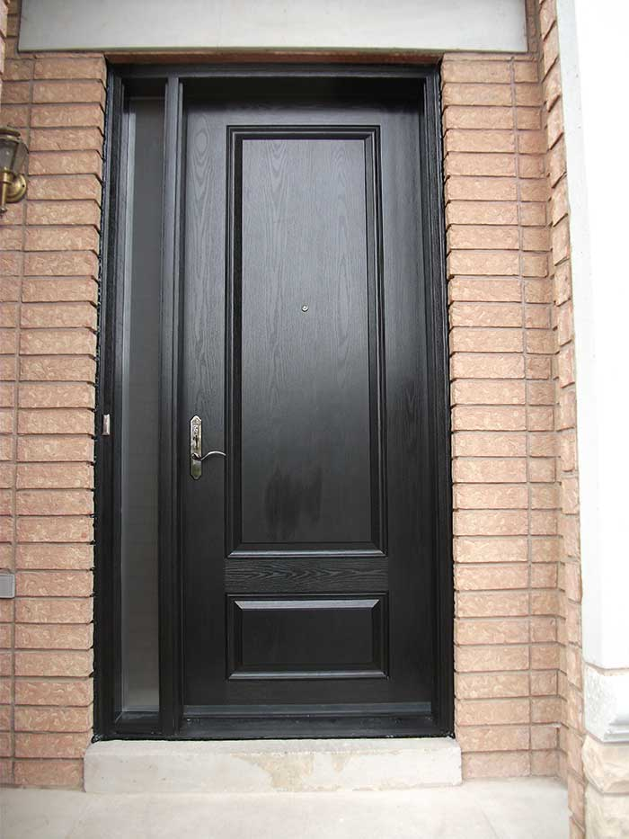 Windows and doors toronto fiberglass doors 8 foot doors for Entry door with side windows