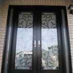 8-Foot Doors, Fiberglass-Milan-Design-Front-Door-with-Multi-Point-Locks-and-2-Slim-Side-Lights-Installed- by Windows and Doors Toronto