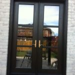 8-Foot-Fiberglass-French-Door-Installed-in-Back-Yard- by Windows and Doors Toronto