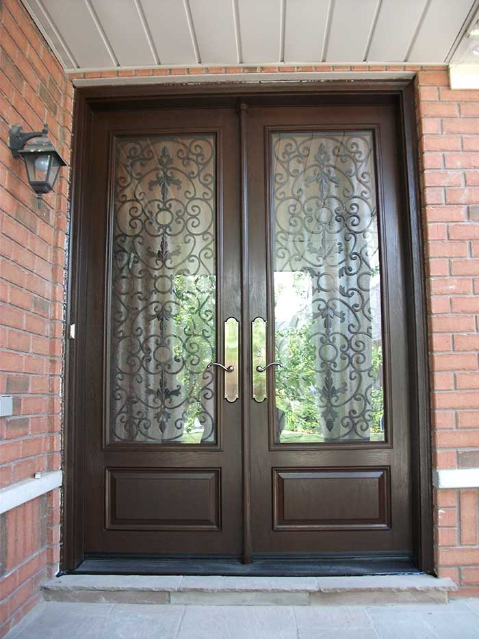 Custom Doors 8 Foot Milan Design Double Front Doors With