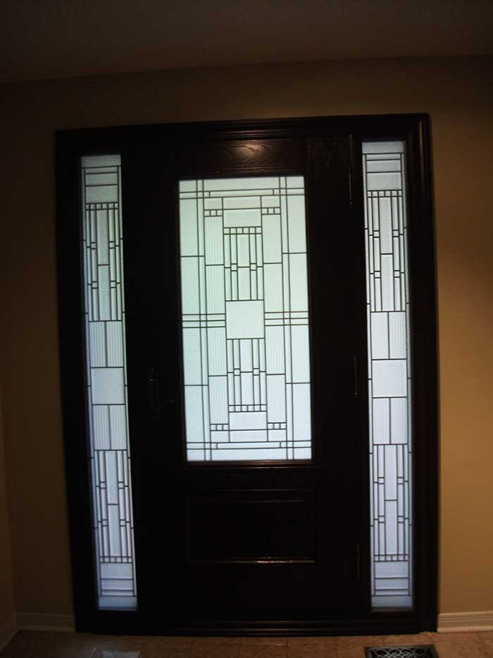 Windows and doors toronto custom front doors custom for Entry door with side windows