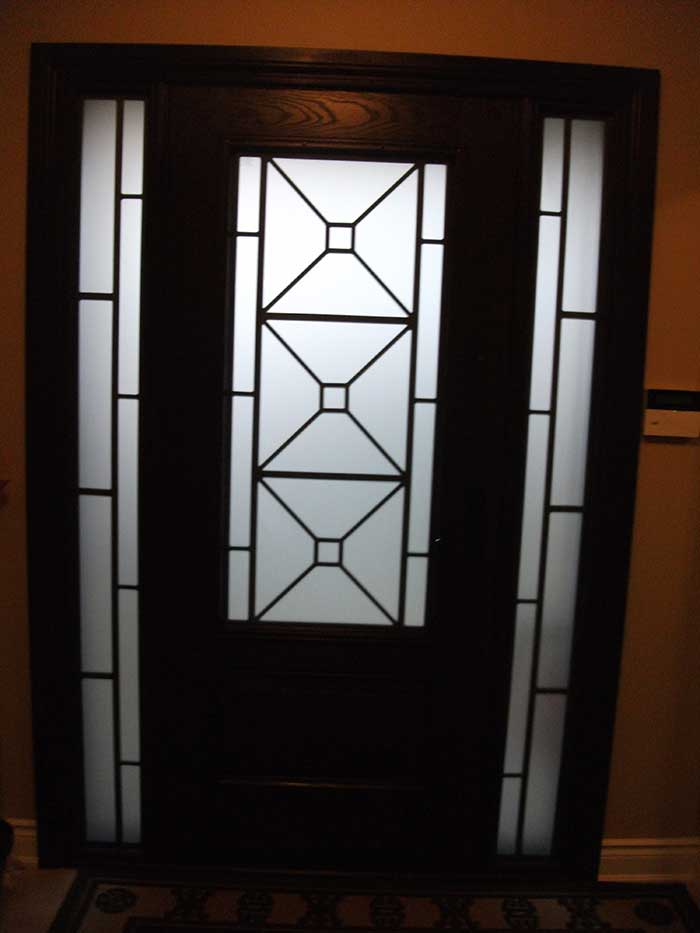Custom fiberglass doors for Single glass exterior door