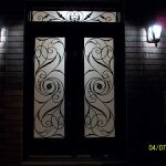 Custom Doors- Fiberglass doors- Milan design & Matching Transom Installed by Windows and Doors Toronto in Oakville
