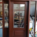 Front Entry Custom Rustic Mahageny Door with Custom DIviders-INSTALLED in sunderland cottage country by windowsanddoorstoronto.ca