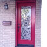 Front Single Entry Door with Wrought Iron Design installed in Brampton by windowsanddoorstoronto.ca