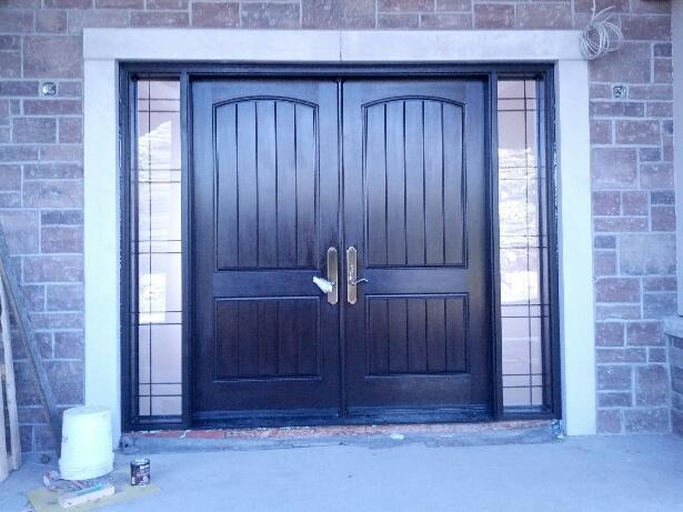 windows and doors front doorscustom fiberglass rustic front entry doors with 2 side lites installed in new