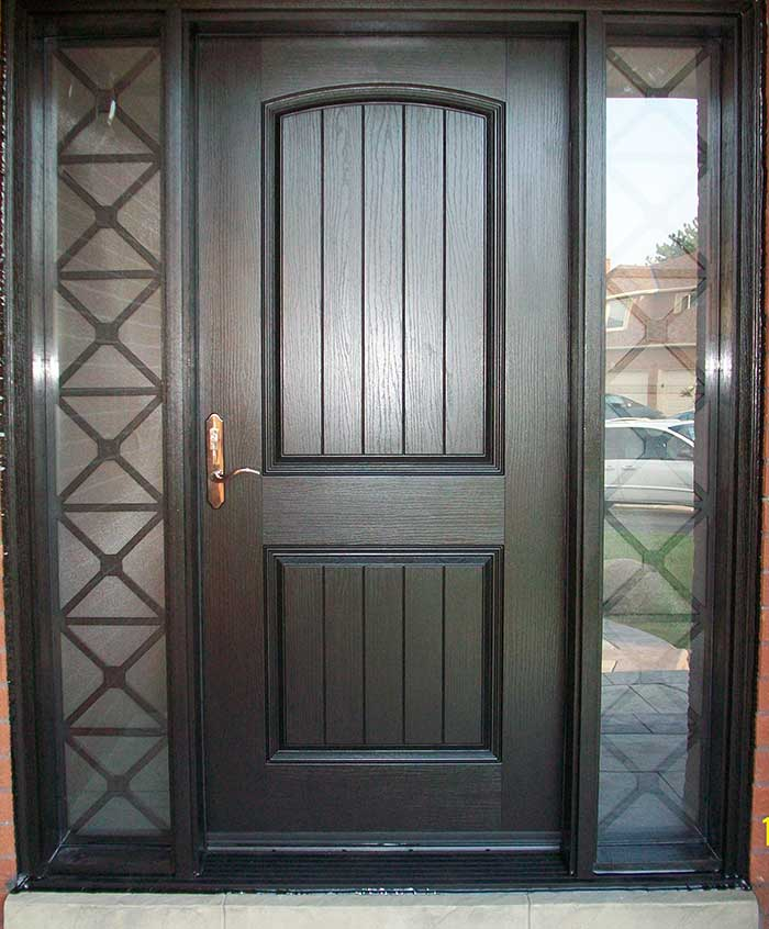 Rustic fiberglass doors windows and doors toronto for Single window design