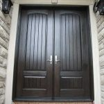 Rustic Doors 8-Foot-Fiberglass-Double-Solid-Parliament-Doors-with-Multi-Point-Locks-Installed by Windows and Doors Toronto-in-Burlington