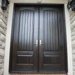 Rustic Doors 8-Foot-Fiberglass-Double-Solid-Parliament-Doors-with-Multi-Point-Locks-Installed by Windows and Doors Toronto-in-Burlington