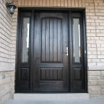 Rustic Doors, woodgrain Solid Door with 2 Side lits Installed by Windows and Doors Toronto in Vaughan