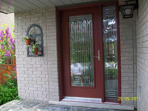 Windows and doors toronto smooth fiberglass doors smooth for Entry door with side windows