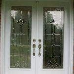 Smooth Doors, Entrance Stained Glass Design Double Doors with Multi point Locks Installed by Windows and Doors Toronto