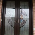 Stained Glass Doors, 8-Foot-Fiberglass-Milan-Design-Door-Installed-in-Woodbridge by Windows And Doors Toronto