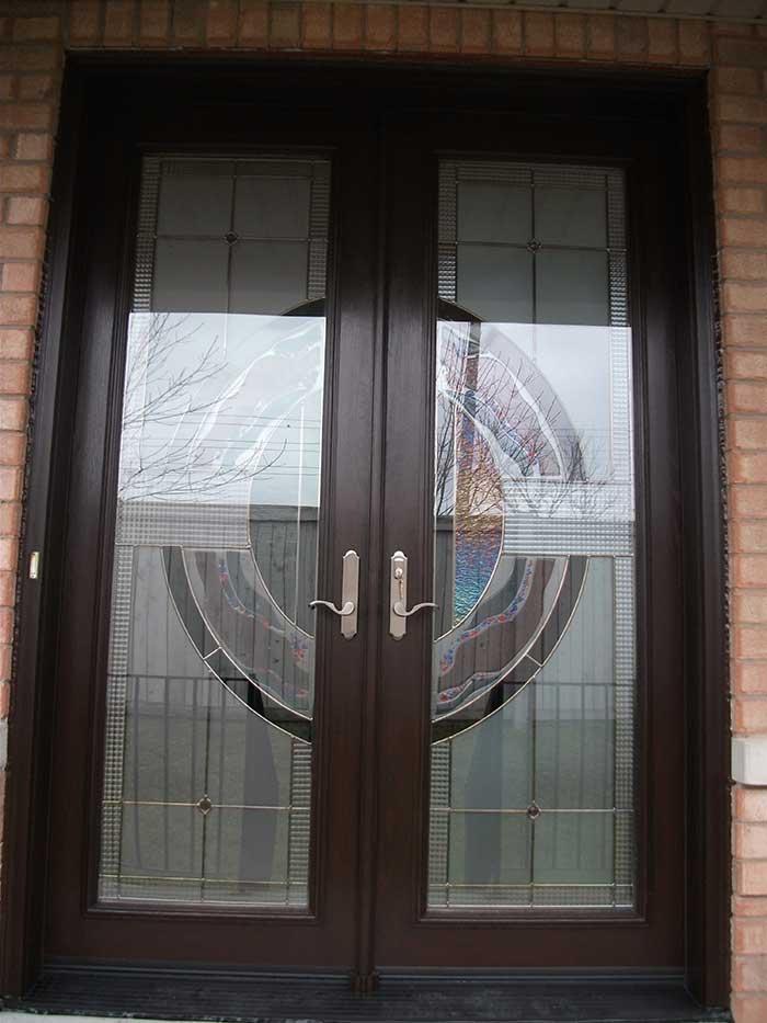 Stained Glass Fiberglass Doors
