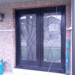 Stained Glass Doors with multi point locks, installed in Brammpton by Windows And Doors Toronto