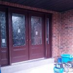 Stained Glass Fiberglass Doors with 2 Side Lites installed by Windows And Doors Toronto in Richmond Hill