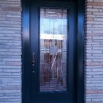 Stained Glass Smooth Fiberglass Single Door Installed by Windows And Doors Toronto