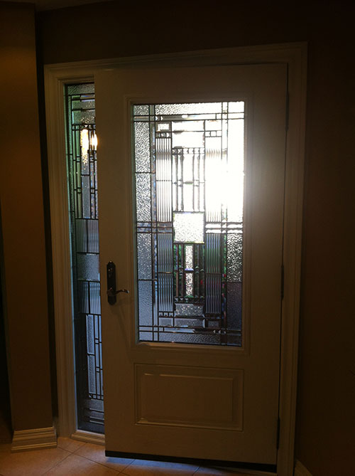Windows and doors toronto fiberglass doors stained glass for Entry door with side windows