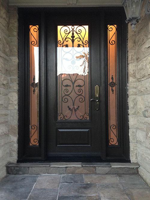 Wrought Iron Fiberglass Doors