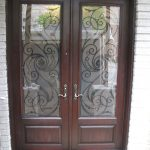 Wrought Iron Double Doors Serafina Design with Multi Point Locks Installed by Windows and Doors Torontoin North York