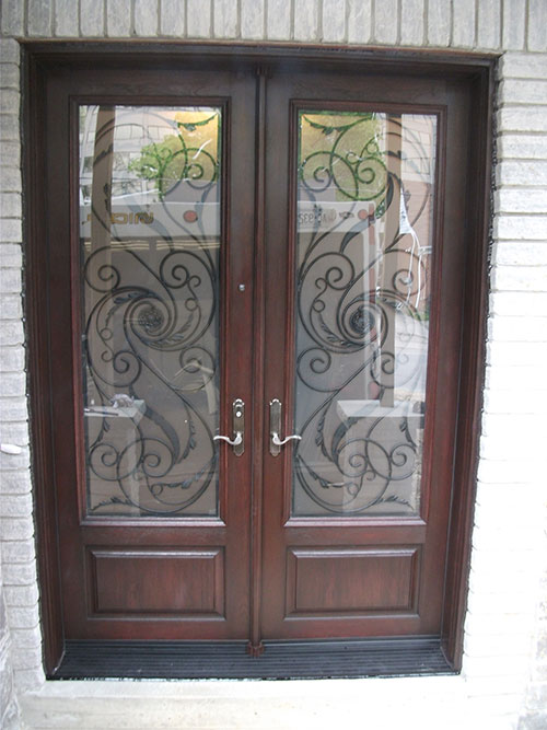 Front Entry Doors Fiberglass Doors Wrought Iron Double