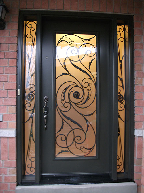 Windows and doors toronto wrought iron door exterior door for Iron window design house