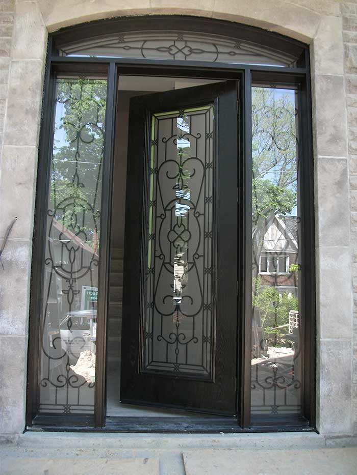 Woodgrain exterior doors woodgrain doors front entry doors for Glass door in front of front door