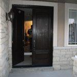 Wood Grain Double Doors with Multi Point Locks- Installed by Windows and Doors Toronto