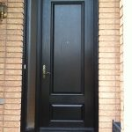 Wood Grain Solid Door with Side Lite Installed by Windows and Doors Toronto