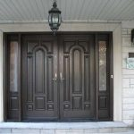 Wood grain Fiberglass Doors with 2 side lites and Multi Point Locks by Windows and Doors Toronto