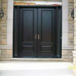 wood grain Fiberglass Doors, Double Doors Fiberglass Solid Stain Spanish Oak by Windows and Doors Toronto