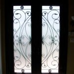 woodgrain fiberglass doors,Custom fiberglass doors, 8ft fiberglass Doors, Executive fiberglass doorsCustom Fiberglass Doors with 2 side lite Installed in Oakville by windo-Inside View