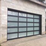 Aluminium Garage Doors-Modern Garage Doors with Door Lites installed in Richmond Hill by modern-doors.ca