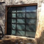 Modern Garage Doors-Aluminium Garage Door with Door Lites installed in Oakville by modern-doors.ca